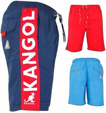 Mens Kangol Board Mesh Line Shorts Beach Exercise Swim Surf Designer Trunks