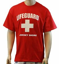 Lifeguard T-Shirt Jersey Shore Official Licensed Life Guard Tee Red New Jersey