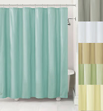 Fabric Shower Curtain Liner w/ Metal Grommets-Blue,Gray,Ivory,Sage,Taupe ,White