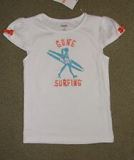 NWT GYMBOREE Gone Surfing Tee TROPICAL BLOOM Short Cap Sleeve Girl's 4