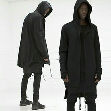 Fashion Mens Casual Long Hoodie Hooded Sweatshirt Jumper Coat Jacket Outwear UU