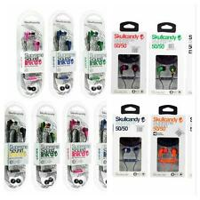 New SkullCandy 50/50 & Ink'd & Smokin Earphones Headphone in-ear with Mic