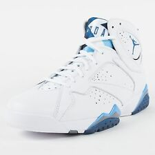 NIKE AIR JORDAN 7 RETRO WHITE FRENCH BLUE UNIVERSITY BLUE FLINT 304775 107 DS