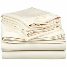 Impressions 1500 Thread Count Egyptian Cotton King Sheet Set, Ivory, Deep Pocket