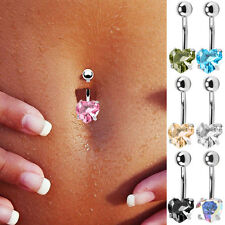 Women's Sexy Rhinestone Crystal Navel Belly Button Ring Body Piercing Jewelry