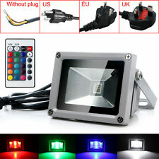 Hot Outdoor 10W RGB Waterproof LED Flood Light Landscape Lamp W/ Remote Control