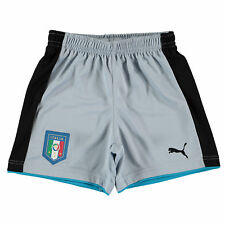 Puma Childrens Kids Football Soccer Italy Home Goalkeeper Shorts 2016 - Blue