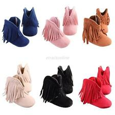 Newborn Toddler Fringe Tassel Boots Baby Infant Boy Girl Soft Soled Winter Shoes