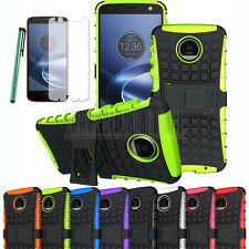 Shockproof Hybrid Rubber Hard Stand Case Cover For Motorola Moto Z Force Droid