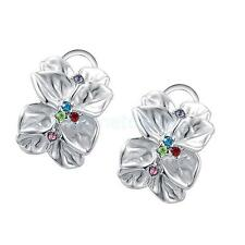 Exquisite Rose Petals Shape Lady Fashion Crystal High Quality Studs Earring
