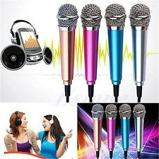 3.5mm Mini Stereo Studio Speechs Microphone Mic For iPhone PC Laptop Skype MSN
