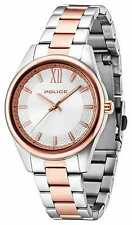 Police Mens Elegance Two Tone Silver Dial 14493MSTR/04M Watch - 9% OFF!