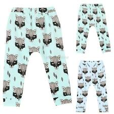 Infant Kids Baby Boys Girls Cartoon Bottom Pants Leggings Harem Pants Trousers