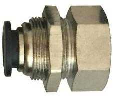 """1/4"""" OD x 1/4"""" Bulkhead Female NPT Push to Connect One Touch Air Fitting Brass"""