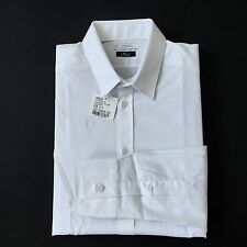 NWT $295 Versace Collection Men's Solid White Cotton Dress Shirt 16 17 AUTHENTIC