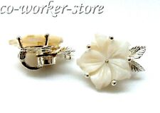 Natural Shell Flower Cameo Magnet alloy Jewelry making supply necklace Clasp