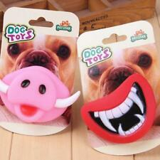 Funny LOL Teeth Dummy Pacifier Soother Small Dog Bulldog Pug Pet Chew Toys