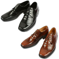 Mooda Mens Leather Wing Tip Shoes Classic Formal Oxfords Dress Shoes StoneL