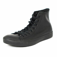 Converse 135251C: Chuck Taylor All-Star Leather High-top Mono-BLACK Youth/Adult