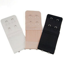 3Pcs Bra Extenders Strap Extension Adjustable Replacement Buckle 2 Hooks  ST
