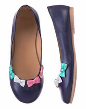 Nwt Gymboree Picture Day Navy Blue With Multi-Colored Bows Flats Size 9