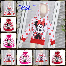 HOT Minnie Mickey Mouse Dot Baby Girls  Blouses Tops Shirt Coat Jacket Hoodie