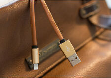 Aluminum leather USB iphone 8 pin Data Sync Charger Charging Cable 6s plus