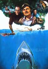 JAWS TEXTLESS MOVIE POSTER FILM A4 A3 ART PRINT CINEMA