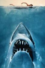 JAWS TEXTLESS VINTAGE MOVIE POSTER  FILM A4 A3 ART PRINT CINEMA