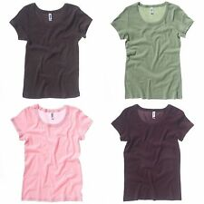 Bella + Canvas Womens/Ladies Baby Rib Short Sleeve Scoop Neck T-Shirt