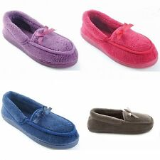 Womens/Ladies Classic Slippers With Bow