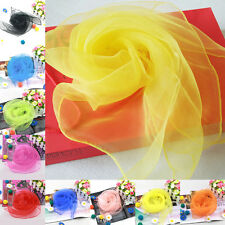 Retro Style Women Fancy Wrap Hair Head Neck Tie Super Light Chiffon Neck Scarf