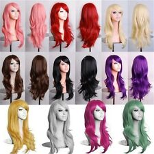 Hot Sexy 70cm Long Curly Cosplay Costume Party Anime Wigs Full Hair Wavy Wig US