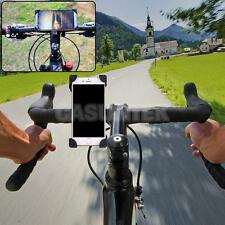 Universal Slide-Proof Clamp Bike Phone Mount Bicycle Cradle for iOS/Android/GPS