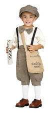 Retro Newsboy Toddler Child Boys Costume Old Fashioned Newsies 24 mo 2T 3T 4T