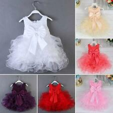 Baby Toddler Girl Skirt Sleeveless Princess Wedding Party Pageant Dress 0-2Y
