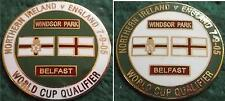 Northern Ireland v England 2006 World Cup Qualifier Belfast 07.09.2005 Pin Badge