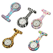 Silicone Nurse Watch Brooch Tunic Fob Nursing Doctors Pendant Clip Pocket Quartz