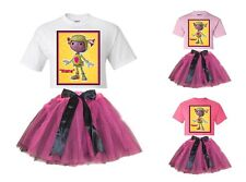 """""""Floogals Flo"""" Personalized White or Pink T-Shirt & Pink&BlackTutu-NEW"""