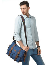 Messenger Satchel Shoulder Military Bag Canvas School Canvas Men's Vintage US