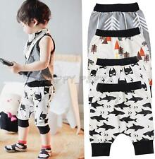 Harem Pants Kid Baby Boy Girl Print Short Toddler Bottom Cropped Cotton Trousers