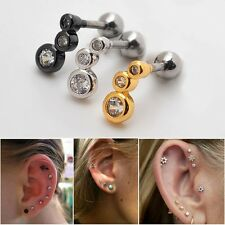 2 Pieces 16G Cute Cartilage Earring Stud Ear Lobe Auricle Helix Piercing 1/4""