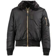 Alpha Industries Men's B-15 Slim Fit Flight Jacket Black