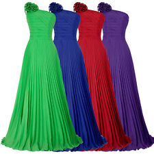 GK Cocktail One Shoulder Pleated Party Gown Prom Ball Evening Dress Formal Long