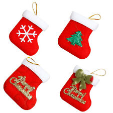 Christmas Stockings Gift Holders Noel Snowflake Bowknot Christmas Tree Ornaments