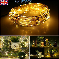 LED Fairy String Lights Xmas Party Garden Copper Wire Lights Strip 1-20M UK
