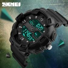 SKMEI Watch Mens LED Digital Date Waterproof Sport Unique Military Wrist Watch