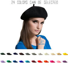 NEW Sweet Womens Solid Wool Beret French Artist Warm Beanie Hat Winter Ski Cap M
