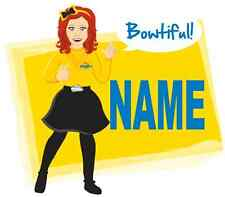 IRON ON TRANSFER or STICKER - YELLOW WIGGLE EMMA - COSTUME T-SHIRT THE WIGGLES