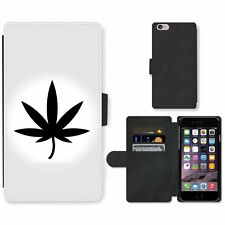 Phone PU Leather Wallet Case For Apple iPhone Marijuana Vector Icon Leaf